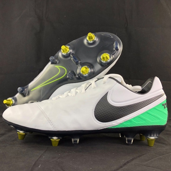 9abe9ea12f8 Nike Tiempo Legend VI SG-Pro AC White Black Cleats
